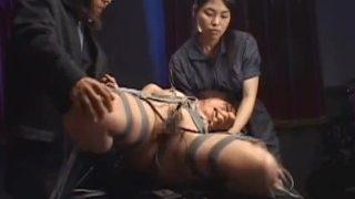 Japanese schoolgirl restraint vibrator & electro torture