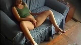 Shy wife caught masturbating