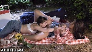 ADULT TIME Teenage Lesbian: Kendra & Kristen- Pussy Eating Picnic