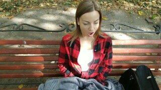 Public masturbation in the park Lviv